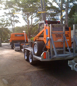 Machinery Trailers central coast